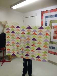 Sheila's quilt in progress for her daughter's big girl bed.