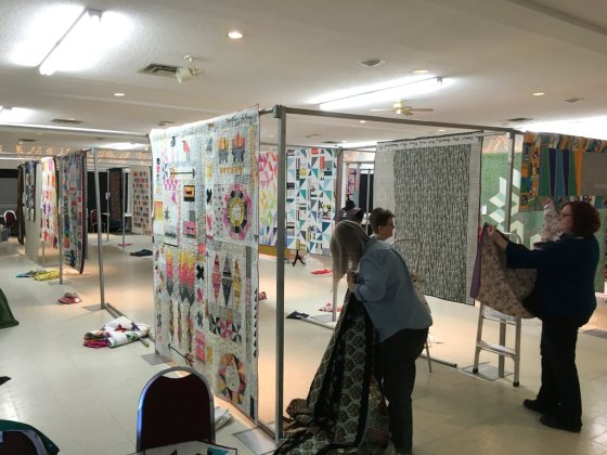3-Quilt Show Take Down March 2016