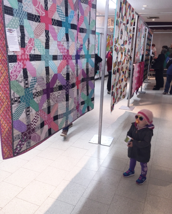 Coolest Kid at SMQG Quilt Show March 2016