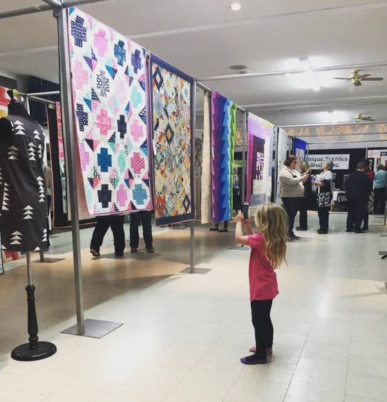 Lily at SMQG Quilt Show March 2016