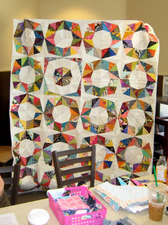 05-Kelly fractal quilt using all scraps