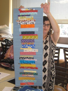 24-Show Tell Sherry table runner front