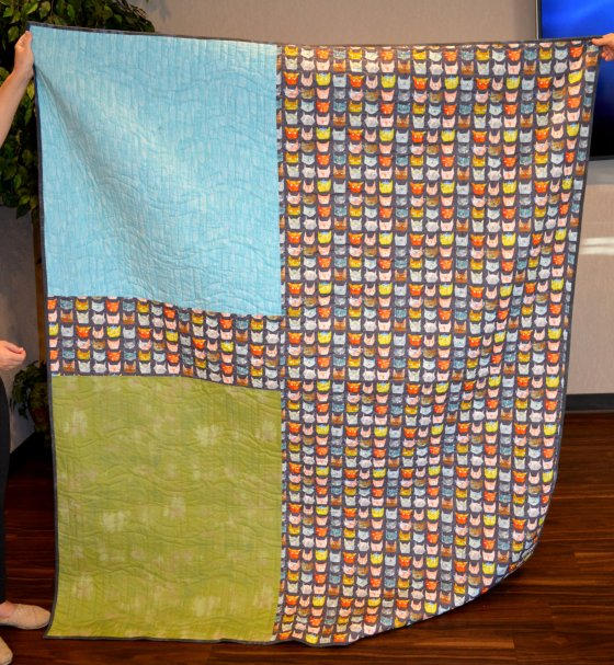 Edith cat quilt back