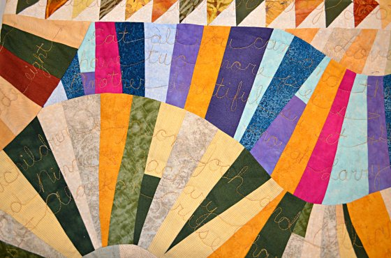 bev fathers story quilt detail