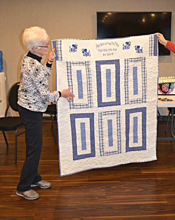 jeannette husband pj pants quilt